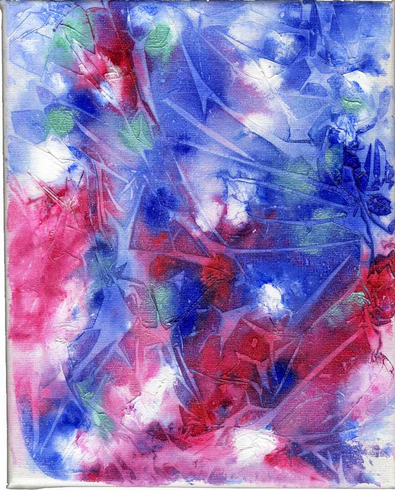 Art Pourings How to Create texture using plastic wrap cling film