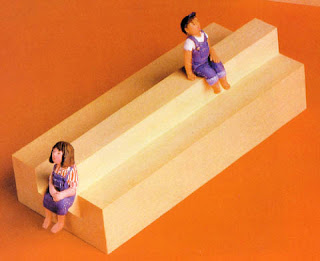 impossible seating optical illusion