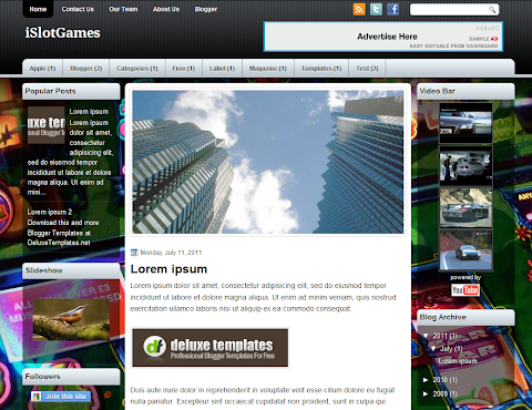 iSlotGames Blogger Theme