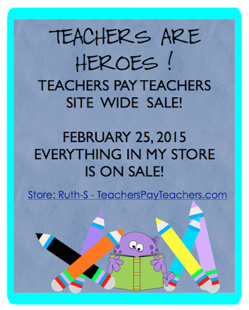photo of TeachersPayTeachers Teachers are Heroes sale, Ruth S.,