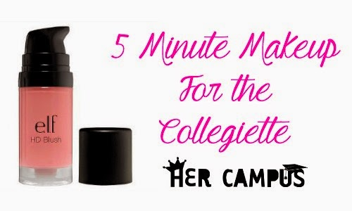 5 Minute Makeup for the Collegiette