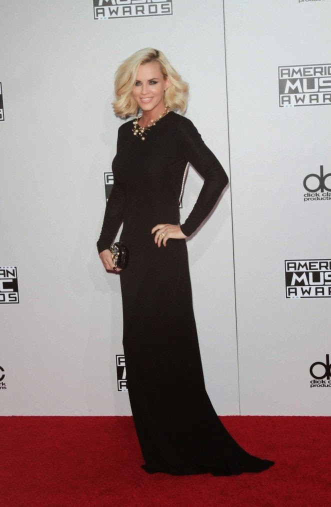 There's no reason if we had to be jealous of Jenny McCarthy on the red carpet this night. She looked immaculate in this killer long gown as the 41-year-old made a stroll to the American Music Awards at Los Angeles, CA, USA on Sunday, November 23, 2014.