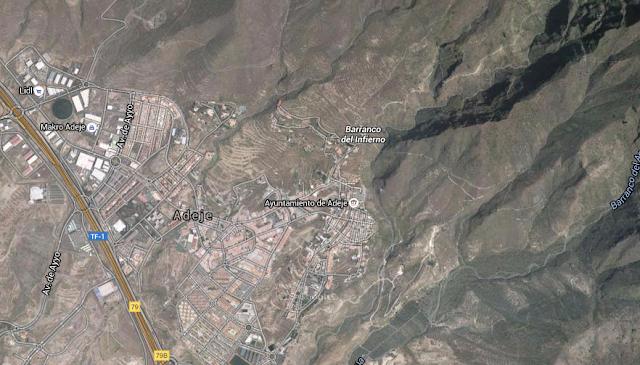 persona muerta por desprendimiento en Barranco del Infierno, Adeje, Tenerife