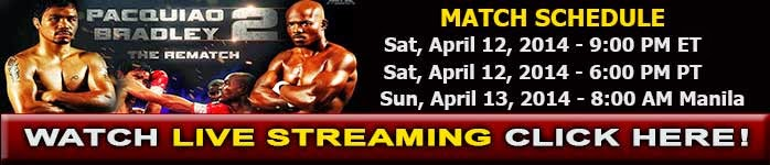 Pacquiao vs Bradley 2 Live Stream Rematch