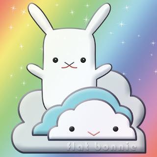 Flat Bonnie Rainbow Cloud Art