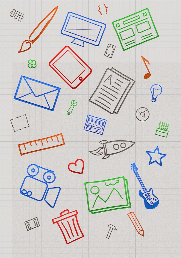 28 free hand drawn icons