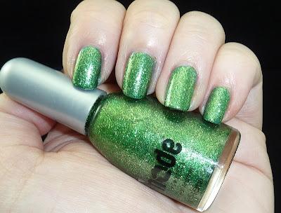 Mode Vicious Venom green glitter nail polish