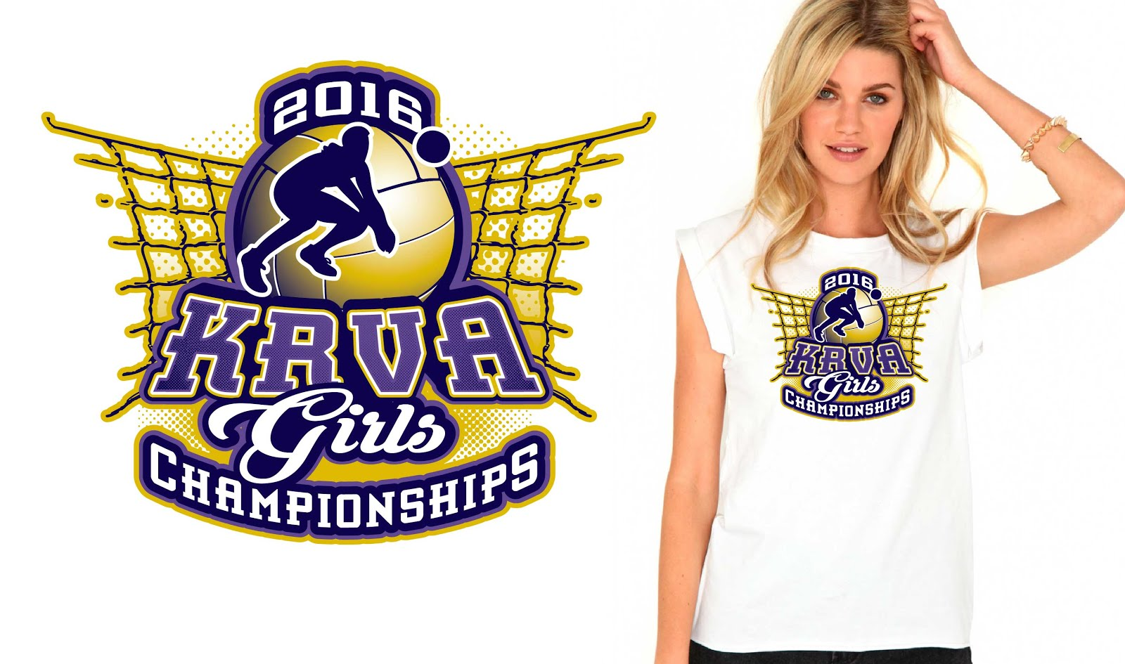 Awesome Volleyball Vector Tshirt Logo Design