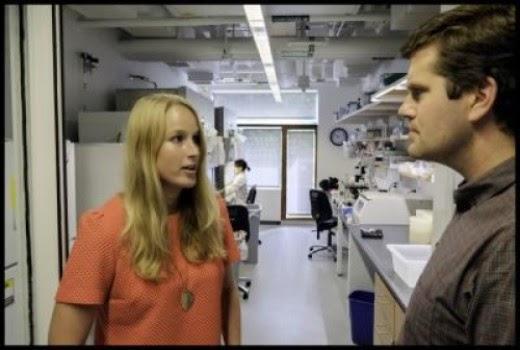 Sophie De Boer  and Prof. Kevin Eggan stem cell researchers