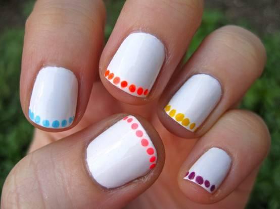 Moda blog decorado de u as francesas for Cool and easy nail designs to do at home