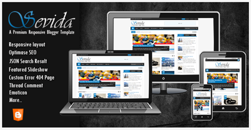 Share Responsive Blogger Template Sevida V1.2