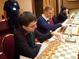 Maxime Vachier-Lagrave et Richard Rapport de l'équipe de Clichy échecs 92 © Chessdom