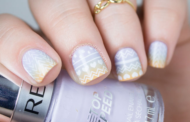 Moyou hipster stamping nail art the nailasaurus uk nail art blog astrid miyu infinity midi ring prinsesfo Images