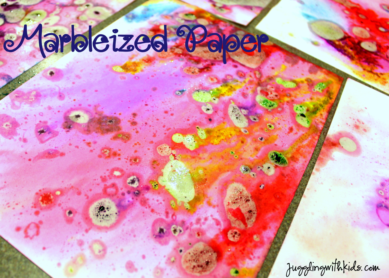 childrens food colouring pictures : Marbleized Paper