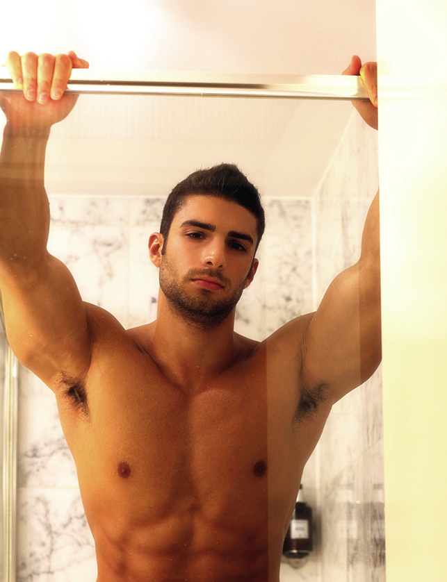 Gorgeous young hairy hunk men