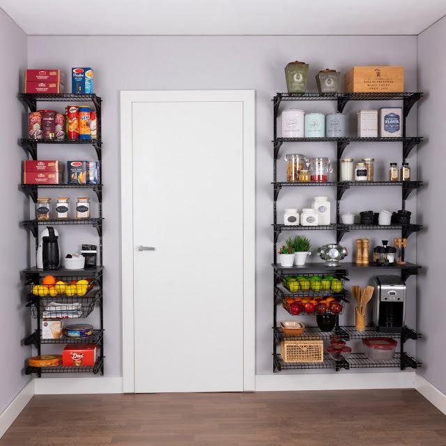 Armário aramado kit 39 - Cozinha e despensa grande
