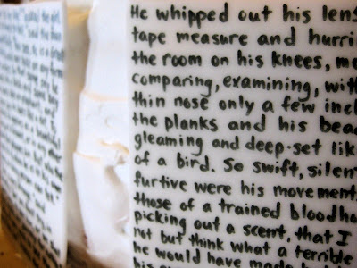 Classic Book Pages Cake - Close-Up View of Pages 6