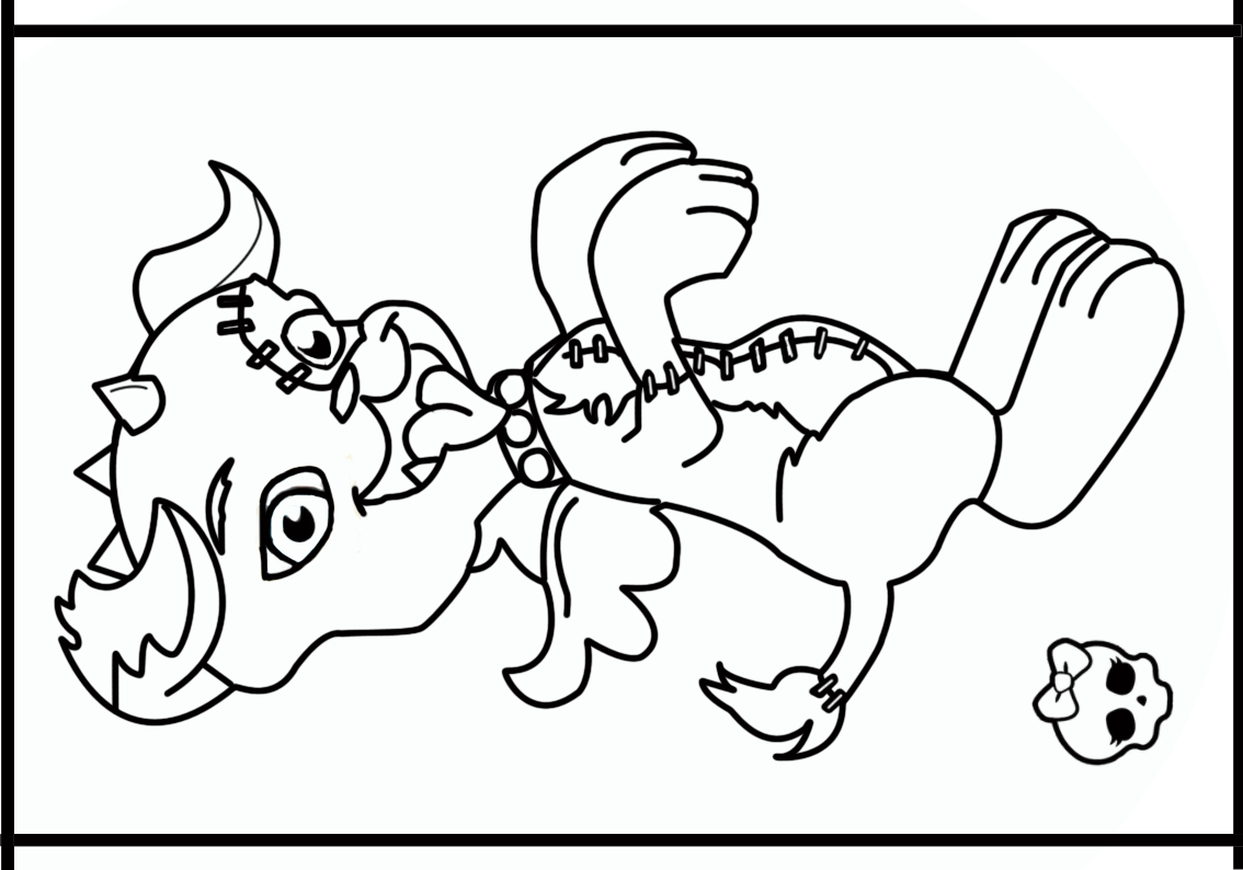 Monster high pet bestgiftholiday for Monster high pets coloring pages