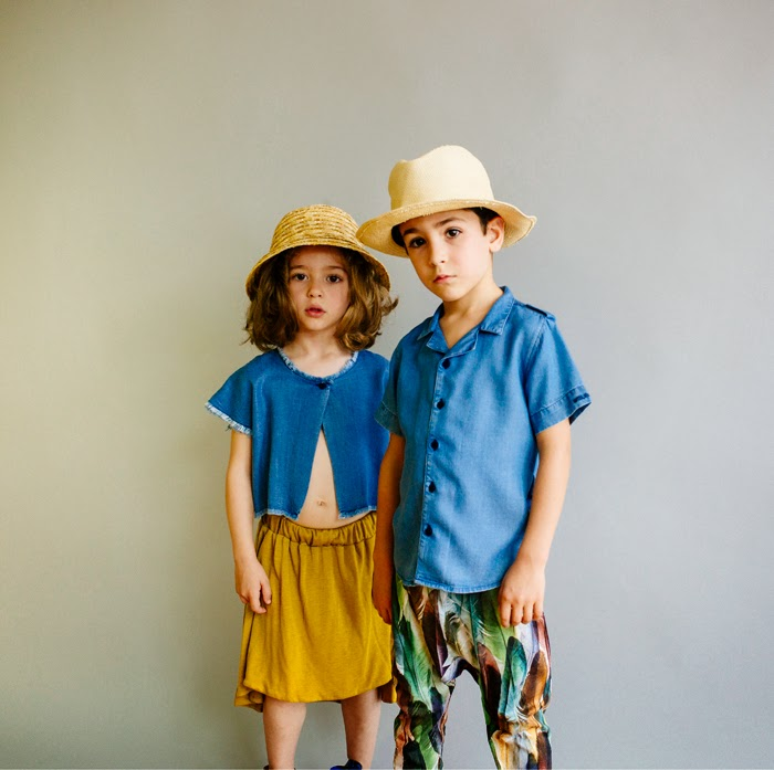 Wolf & Rita Spring-Summer 2015 kids fashion - denim shirts