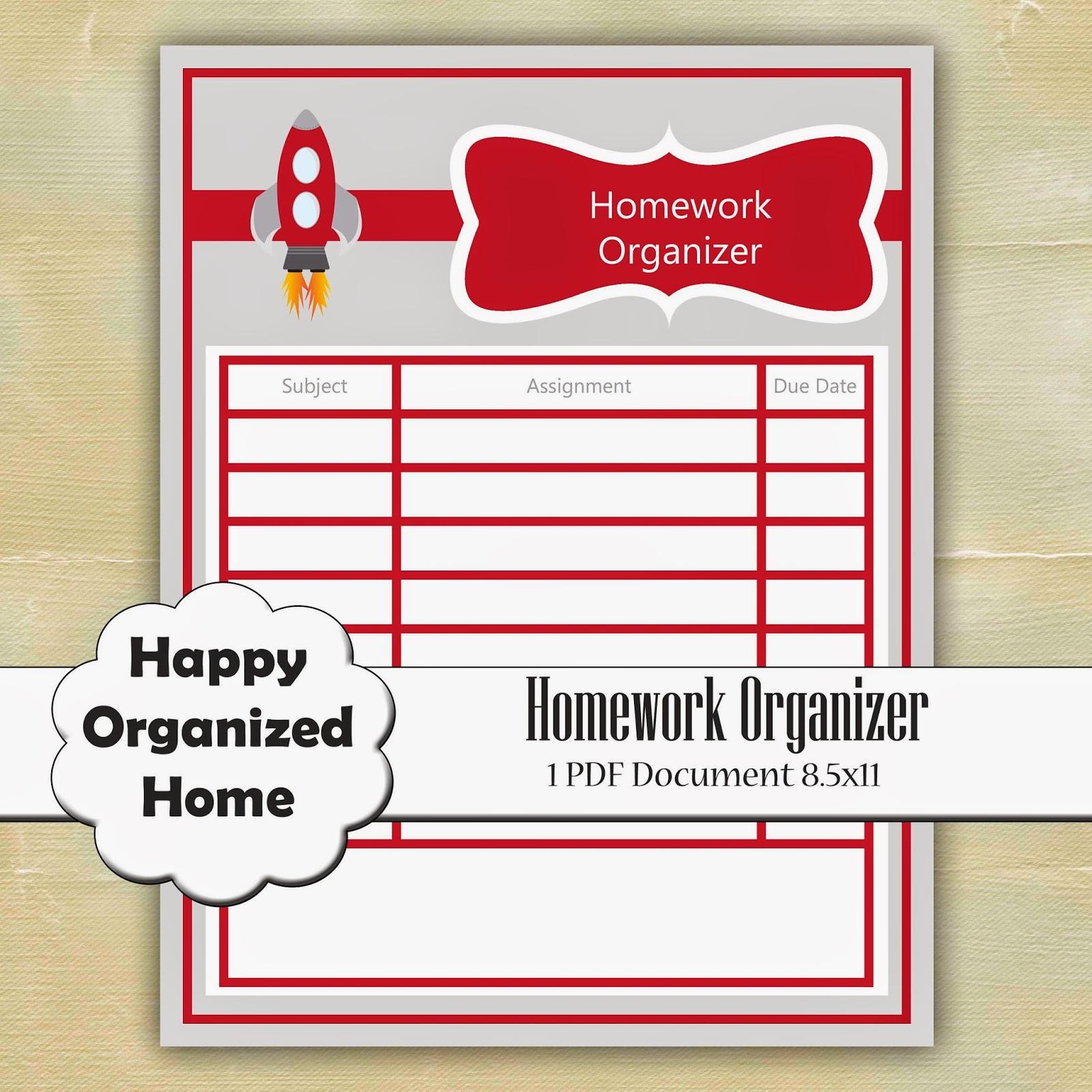 homework organizer