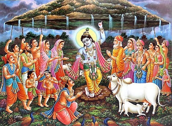 New God Krishna Govardhan Hill HD wallpapers for free download