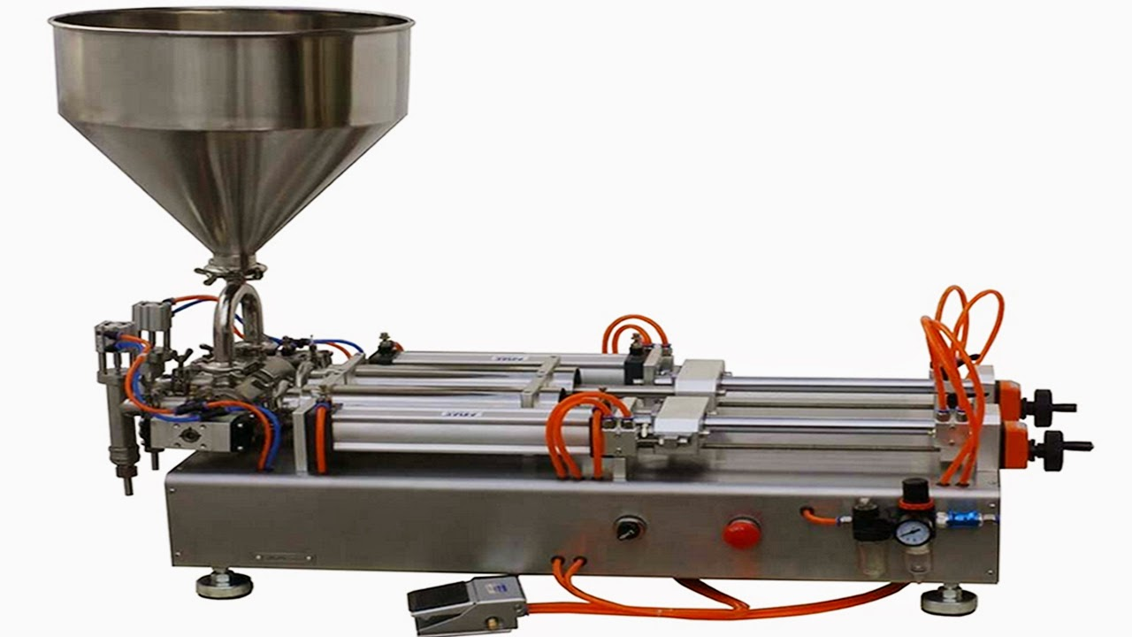 double heads sauce butter filling machine pneumatic filling machine السائل ملء آلة