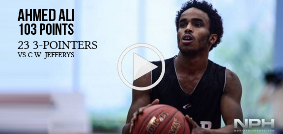 Canadian HS Guard Ahmed Ali Scores 103 Points, Hits 23 Three-Pointers (VIDEO)