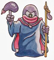 Le sorcier aubergine, un monstre très énervant dans Kid Icarus sur Nes