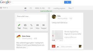 tampilan baru google plus timeline