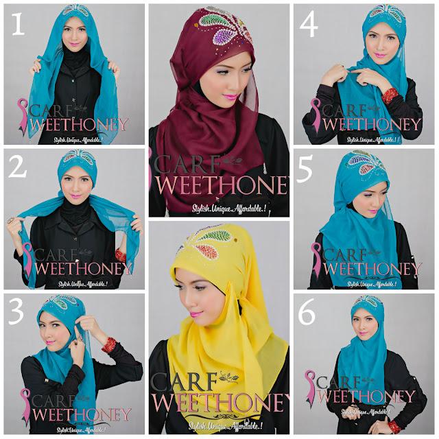 Tutorial Cara Memakai Jilbab, Mudah, Cantik dan Modern (Lengkap 90 Gaya Berjilbab) Bagian 1