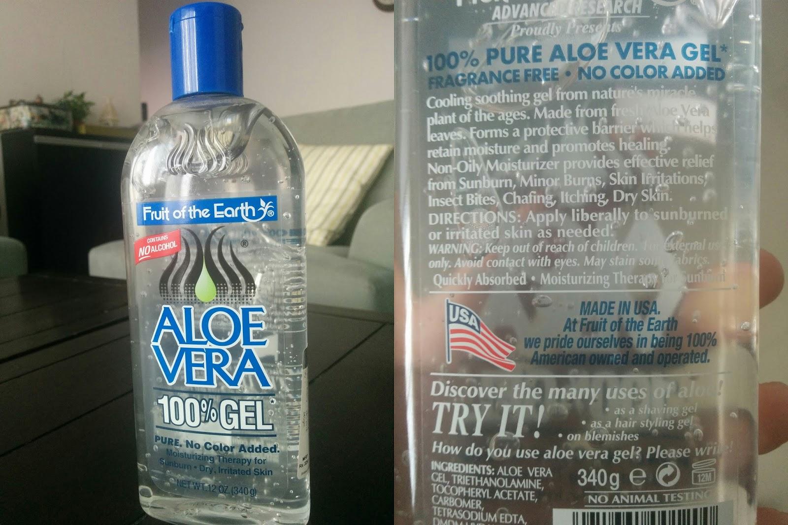ingredients in aloe vera gel