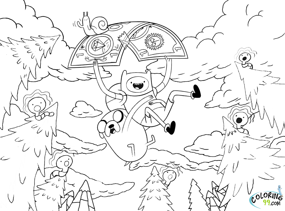 Adventure Time Coloring Pages Team Colors Adventure Time Coloring Pages Printable
