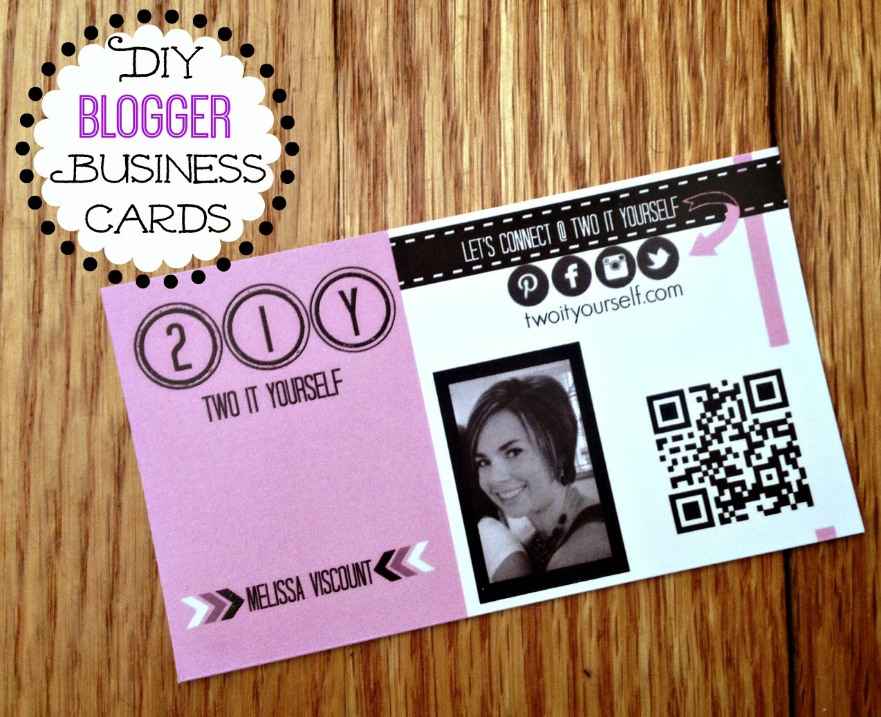 Two It Yourself: DIY Blogger Business Card Ideas