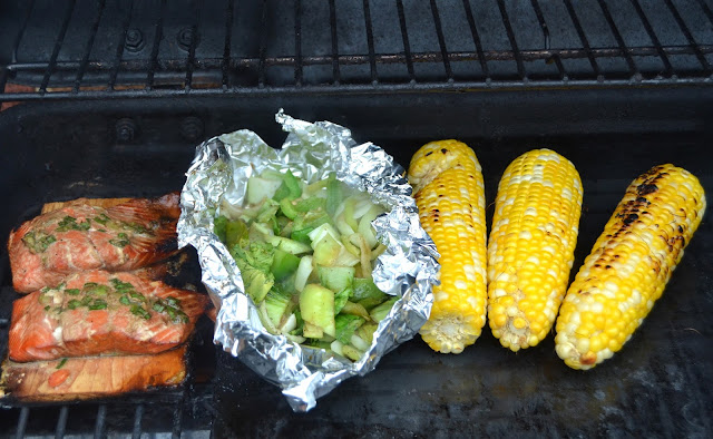 Green Onion Grilled Salmon