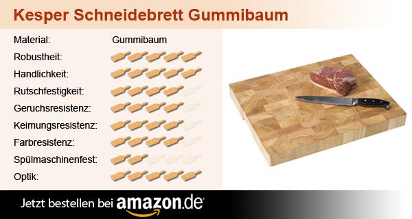 Kesper Schneidebrett Gummibaum