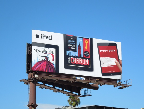 New Yorker iPad billboard
