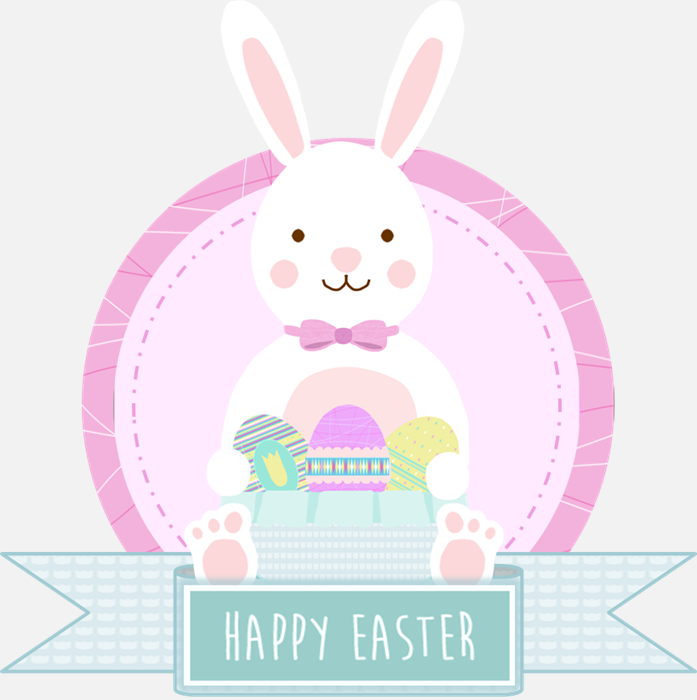 Happy Easter bunny drawing