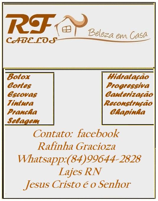 RF CABELOS BELEZA EM CASA LAJES RN