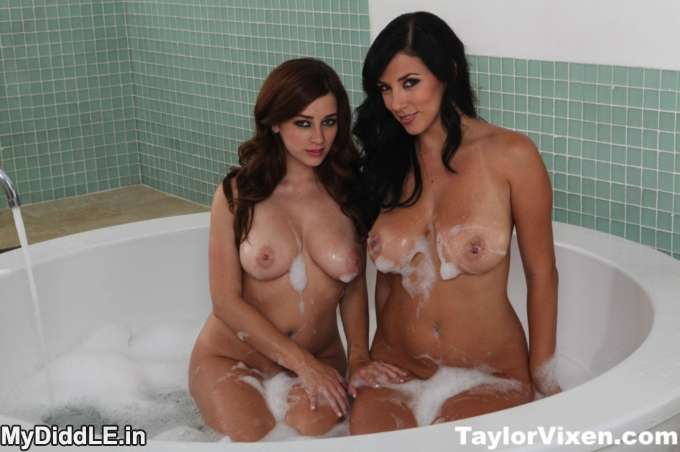 Taylor Vixen and Jelena Jensen Nude Naked Topless in Shower indianudesi.com