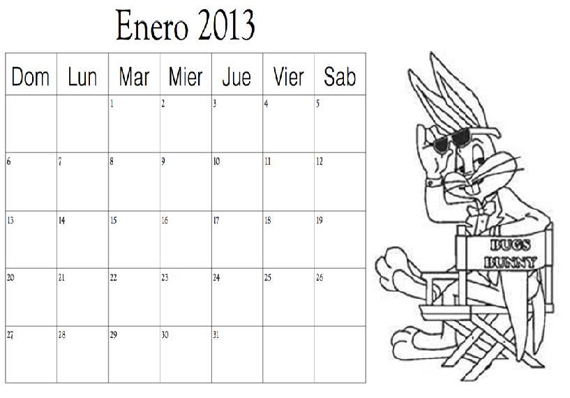Dibujo del mes de Enero 2013 para colorear ~ Colorea el dibujos