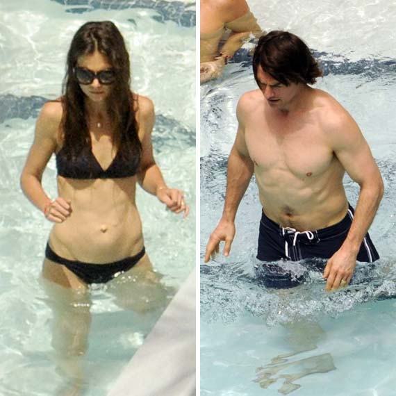 Katie Holmes & Tom Cruise Celebrates Birthday Pool Party