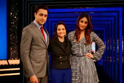 Imran Khan and Kareena on the sets of The Front Row With Anupama Chopra