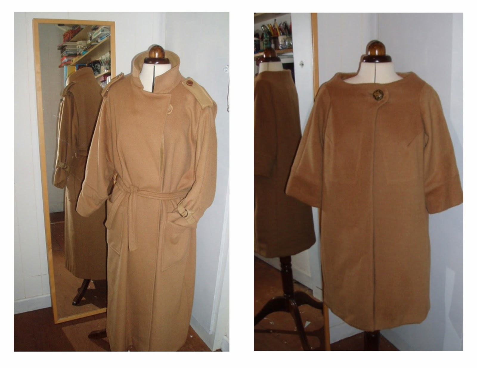 McCalls 7520 - pauline trigere coat - remake coat to a coat
