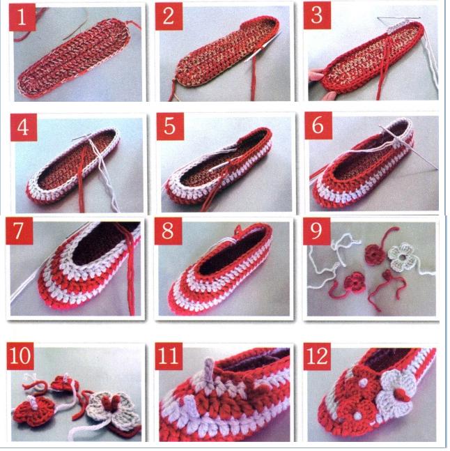 Pantuflas diferentes de Crochet.Tutos - Patrones Crochet