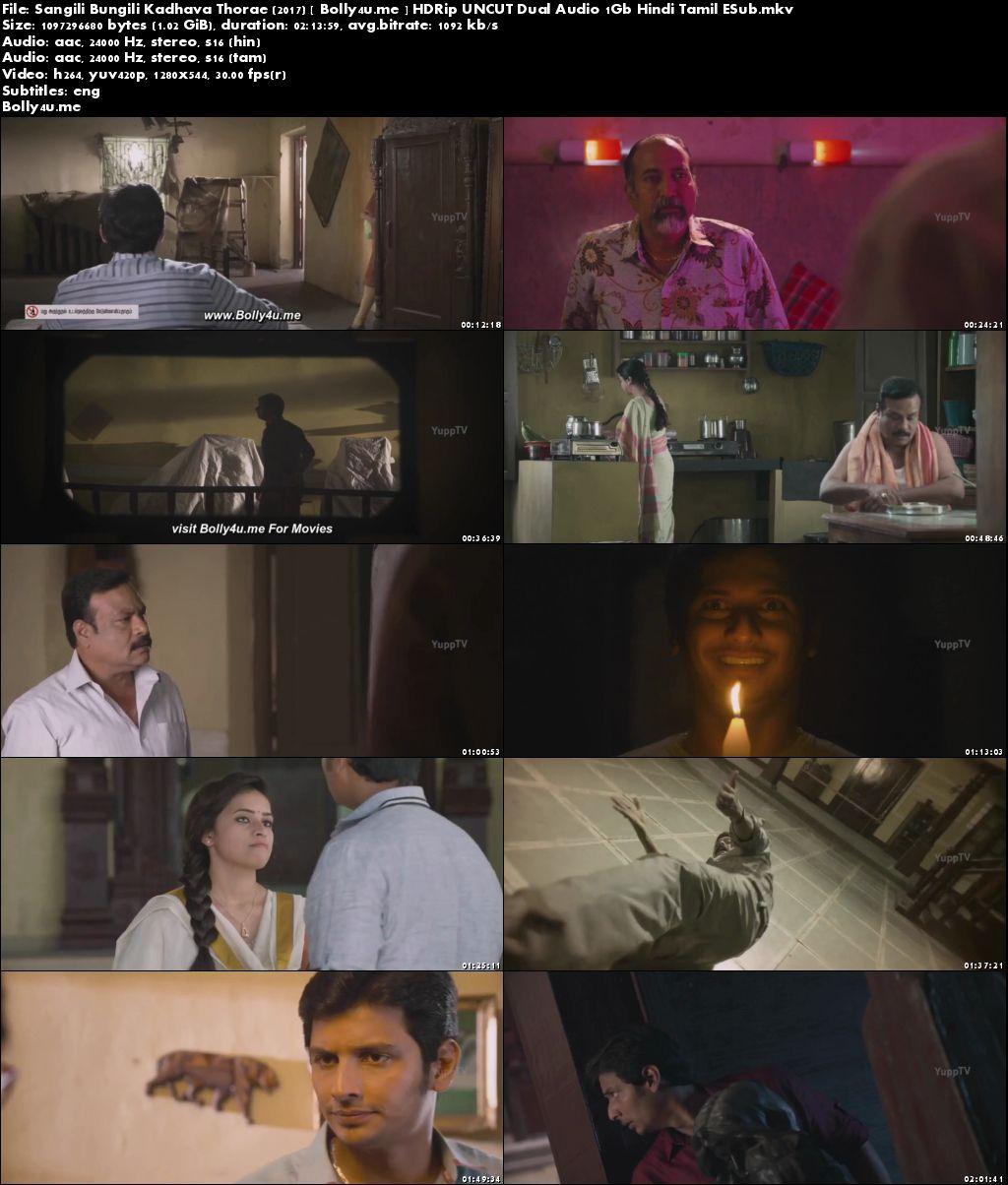 Sangili Bungili Kadhava Thorae 2017 Hindi Dual Audio UNCUT HDRip 400MB 480p 720p 1GB