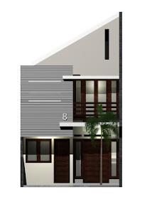 denah rumah minimalis 5x9.5 meter 2 lantai | desain denah