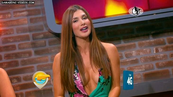 Colombian model Paola Garcia Olaya hot cleavage HD video