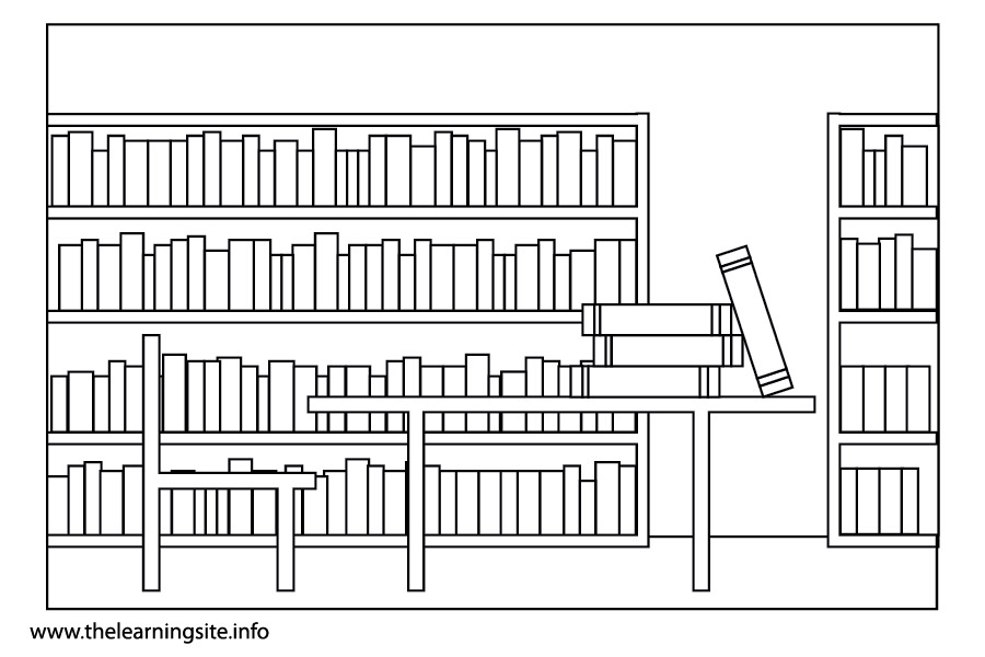 School librarian free coloring pages for Library coloring pages printables