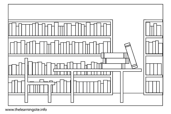 Library Building Colouring Pages Picture To Pin On