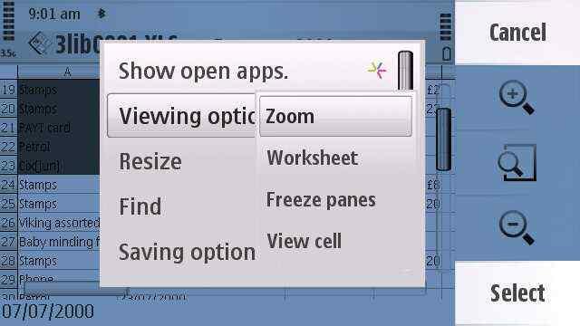 QuickOffice Screenshot